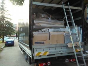 Spakovan kamion i spreman za transport